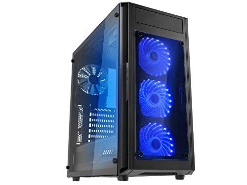 Microtel Computer AM8105 Gaming PC with Liquid Cooling Intel i7 8700k 3.7Ghz, 16GB DDR4, 3TB 7200RPM, Blu Ray, 800W PS, WiFi (Nvidia Geforce GTX 2070 RTX 8GB)