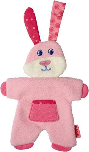 HABA Fleecy Fluffy Pacifier Animal, Pink