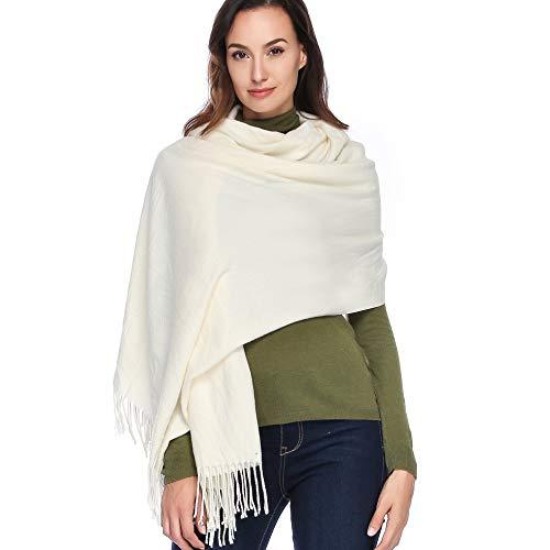 HOYAYO Cashmere Wool Shawl Wraps - Extra Large Thick Soft Pashmina - Wool Jacket Wrap