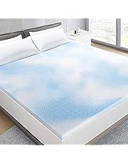 BedStory Mattress Topper, Cooling Gel Memory Foam Mattress Topper Blue Gel Mattress Pad Ventilated Design