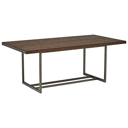 Stone & Beam Glenwood Modern Industrial Metal Base Dining Room Table, 78