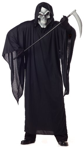 [California Costumes Women's Grim Reaper Costume,Black,P (48-52)] (Lady Reaper Costumes)