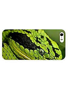 3d Full Wrap Case for iPhone 5/5s Animal Green Snake58