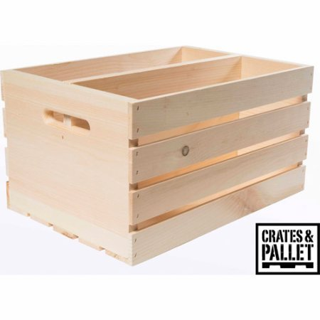 Crates and Pallet Divided Large Wood Crate WLM