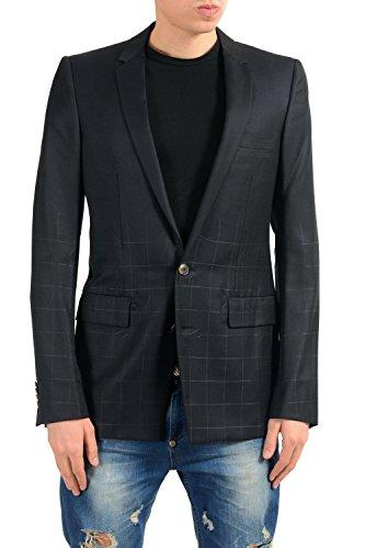 Versace Men's Silk Wool Black Two Button Blazer Sport Coat US 38 IT ()