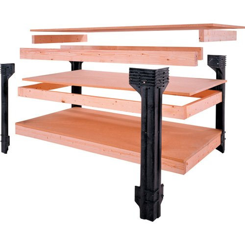 Universal Work Bench Leg Kit, 36'' High