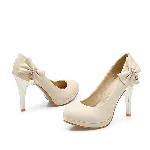 Couleur Chaussures L Agoolar Rond Femme Unie Cuir Pu Tire Stylet WrqU7qXg
