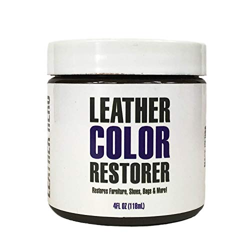Leather Hero Leather Color Restorer & Dauber Kit- Repairs, Renews & Recolors Faded Leathers | Many Colors for Couches, Shoes, Purses, Car Seats & More - 4oz (Black)