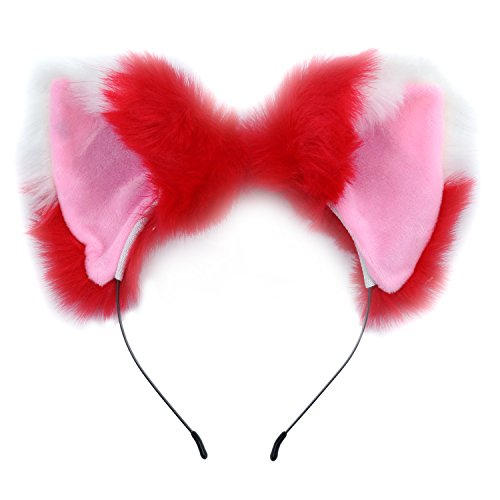 Ears Headband Cat Fox Kitten Fur Ears Hair