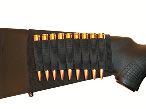 GrovTec GTAC81 Buttstock Cartridge Shell Holder, Black (Rifle)
