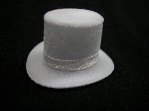 Heidi Ott Dollhouse Miniature 1:12 Scale Men's Top Hat White #XZ781W