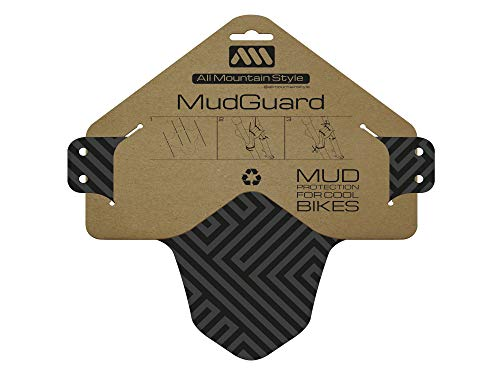 All Mountain Style AMSMG1MAGY Front Mudguard - Protects You and Your Bike from Waste and Dirt, Grey/Maze