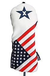 USA 1 3 X Golf Headcover Patriot Vintage Retro Patriotic Driver Fairway Wood Head Cover