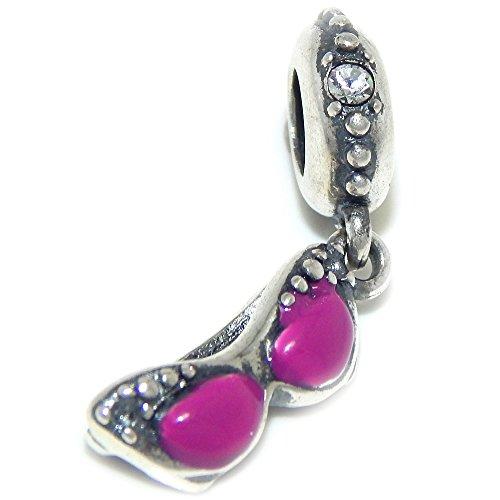 Pro Jewelry 925 Solid Sterling Silver Dangling Purple Sunglasses Charm - Pandora Charm Sunglasses