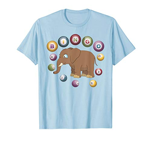 Bingo Elephant Funny T-Shirt with Bingo