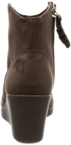 Bootie Synth Wedge Leigh Crocs Espresso Suede Femme wOXpEq7g