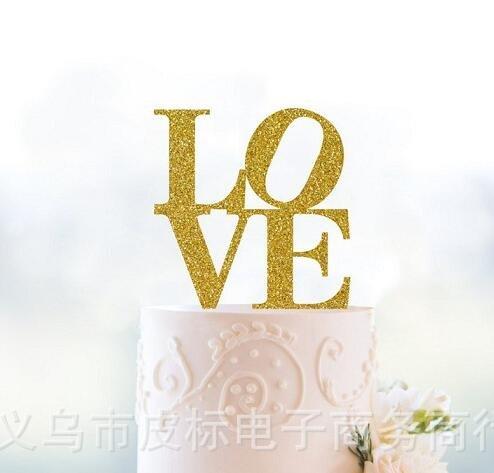 Ecago-Gold-Love-Cake-Topper10-Count-S420