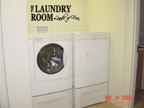 The LAUNDRY ROOM Loads of Fun Wall Art Decal Sticker, Black