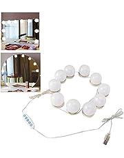 Vanity Lights, 10 stuks Hollywood Style LED Vanity Mirror Lights Kit, USB LED 5 kleurtemperatuur gloeilamp voor make-up schoonheid tablet Vanity Mirror
