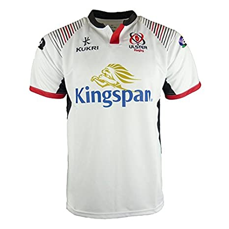 size 40 f3c57 2fa6b Kukri Ulster 2017/19 Home S/S Replica Rugby Shirt - White/Black/Red
