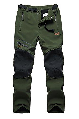 Skyinger Women's Outdoor Windproof Waterproof Softshell Fleece Snow Pants US1602W Armygreen M