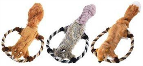 Ethical Hi Flying Skinneeez Assorted Animals 14-Inch Stuffingless Dog Toy, My Pet Supplies