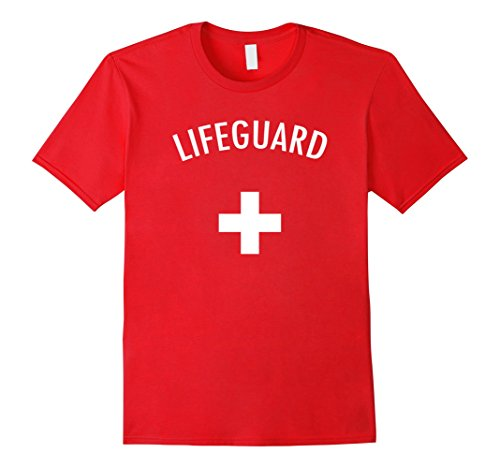 Mens Lifeguard Halloween Costume Tee-Shirt 3XL (Quick Last Minute Halloween Costumes For Men)