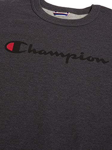 Champion Men's Powerblend Fleece Crew, Script Logo