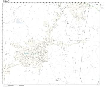 Amazon.com: ZIP Code Wall Map of Columbia, TN ZIP Code Map Not
