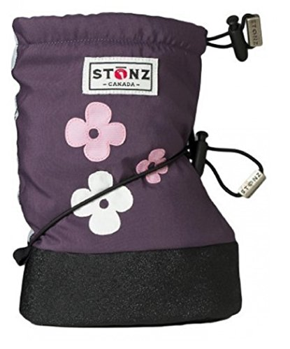 Image of Stonz Three Season Stay-On Baby Booties, Use on Bare Feet Shoes, for Mild Cold Snow Weather (Unisex Infant/Toddler)