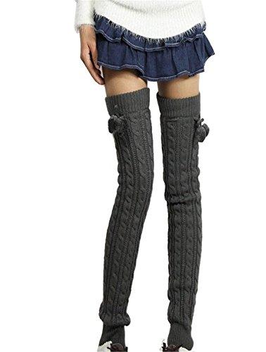 Womens Fashion Winter Leggings Boots Long Leg Warmer Knit Crochet Socks Knitted Warm Boot Toppers Cuffs thigh high socks