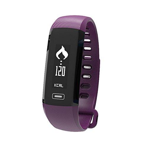 Bracelet Intelligent Blood Oxygen Heart Rate Détection De La Pression Artérielle Podomètre Sportif Calorie Sleep Detection Smart Bracelet,Purple-OneSize