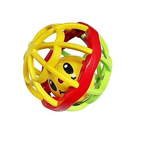 Generic Baby Toys Infant Rattle Ball Grasping Activity Toy Bendy Ball with Holes