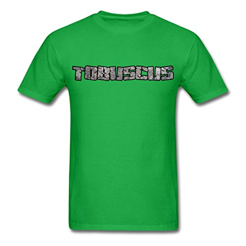 Spreadshirt Tobuscus Logo Men's T-Shirt, M, bright green (Channel Logo T-shirt)