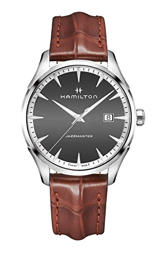 Hamilton-H32451581-Brown-40mm-Stainless-Steel-Jazzmaster-Mens-Watch