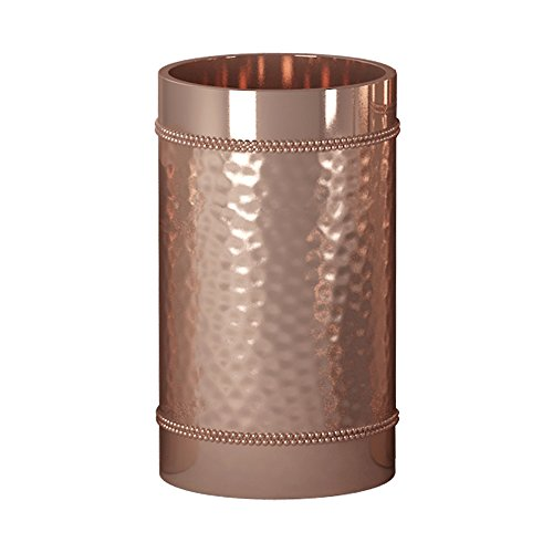 - nu steel HSC5H Hudson Collection Bathroom, Decorative Holder, Cup for Water, Best Tumblers for Mouthwash-Rinsing Hammered Copper Finish