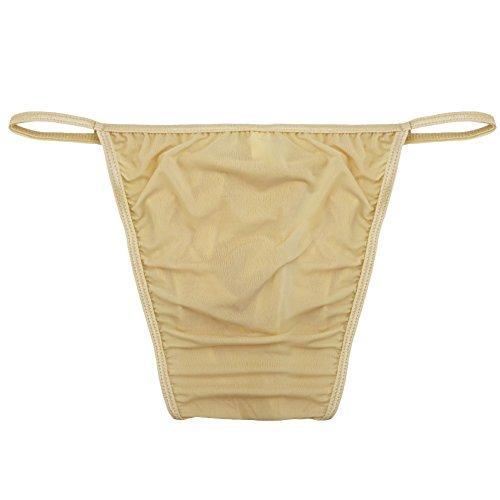 67bc465547d FEESHOW Men's Silky Bugle Pouch Tanga Briefs Bikini Underwear ...