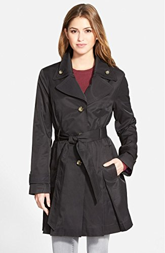 London Fog Women's Single Breasted Double Collar Trench C...