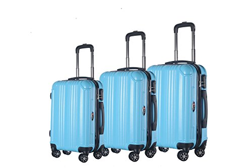 3-Piece Hardside Spinner Expandable Suitcase Set #951 (Sky Blue) (Brio Sky Train)