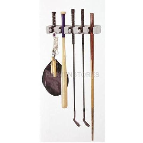 5 Racks Kitchen Storage Brush Mop Broom Holder Organizer Tool Wall Mount Hanger - Bronze Oak Bird Feeder