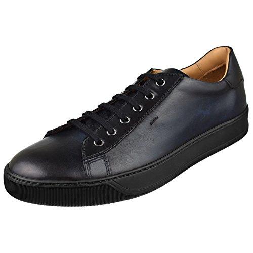 Santoni Menns Sko Apache Sneaker Blå