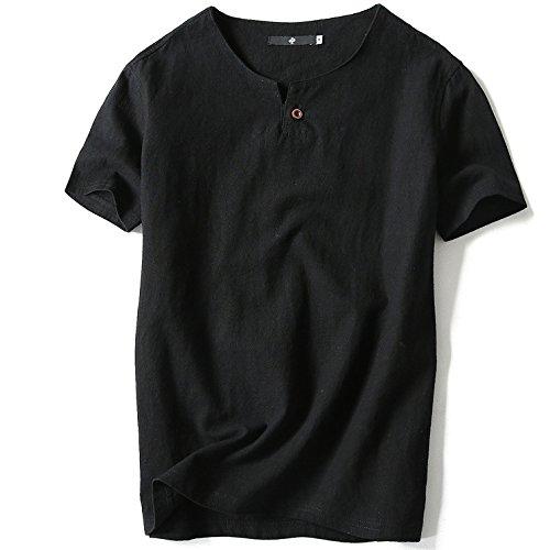 コンパクト章受け取る[XINXIKEJI]夏服 メンズ ロックtシャツ ビジネス tシャツ 無地 ポロシャツ vネック インナー ボーイズ 男の子 Tシャツ 半袖 大きいサイズ 修身 カジュアル シャツ ゴルフウェア 上着 通勤 通学 運動 日常用 M-XXXXXXL