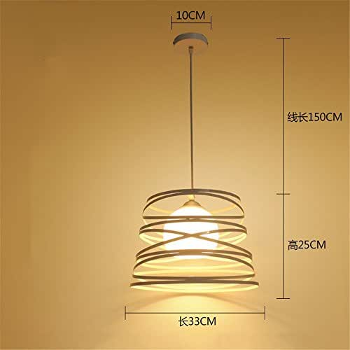 JhyQzyzqj Pendant Lights Chandeliers Ceiling Lights Iron Single Head Restaurant Creative Personality Industrial Wind bar Counter Bedroom Restaurant Lights Modern Simple Aisle Meal, 5