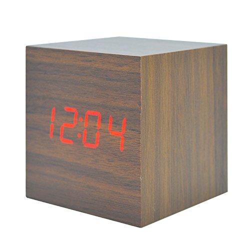 Sound environmental LED wood clock creative clock - 1