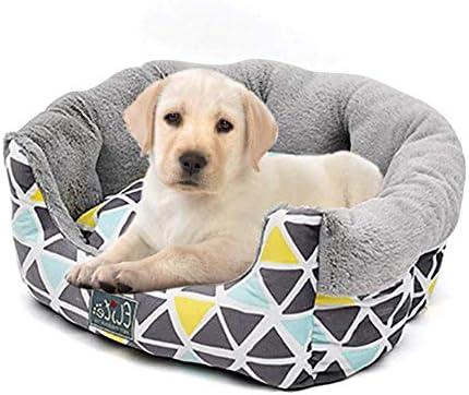 ZHSBVerwijderbaar en Wasbaar Huisdier Bed, Nordic Style Korte Pluche Fluffy Warm Zachte Kennel Mat Pad Winter Wasbaar Slijtvast Vocht