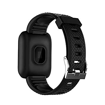 HelloPet Sports Fitness 116plus Smart Watch Waterproof Activity Blood Pressure Heart Rate Call Message Reminder Android Pedometer Smart Watch (Black)