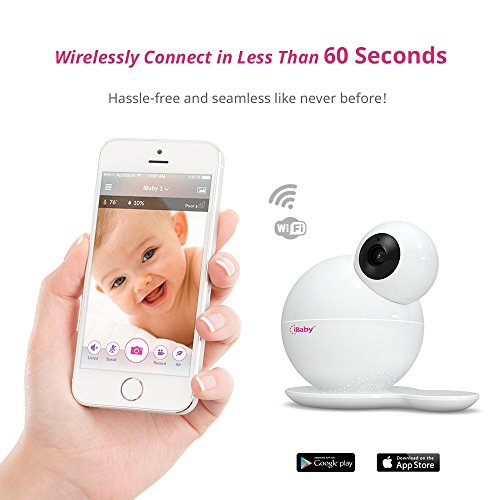 iBaby Monitor M6S, Smart Wifi Enabled Total Baby Care System 1080p Wireless Infant Safety Camera Kit with Wi-Fi Speakers, Night Vision, 360° Pan and 110° tilt