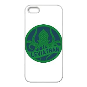 iPhone 5 5s Cell Phone Case White Retro Leviathan V0Q5P