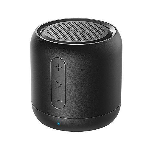 Anker SoundCore mini, altavoz bluetooth portátil compacto recargable con 15 horas de reproducción, radio FM, tarjetas micro SD y rango de conexión de 20 metros