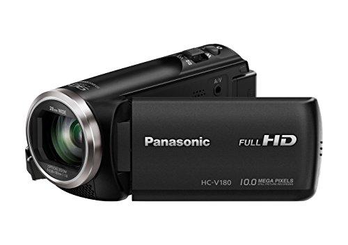 Panasonic HC-V180EG-K Full HD Camcorder (1/5, 8 Zoll Sensor, Full HD, 50x optischer Zoom, 28 mm Weitwinkel, opt. 5-Achsen Bildstabilisator Hybrid OIS+) schwarz